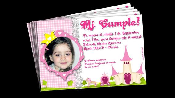 Tarjetas Invitacion Con Foto Hello Kitty Princesas Etc