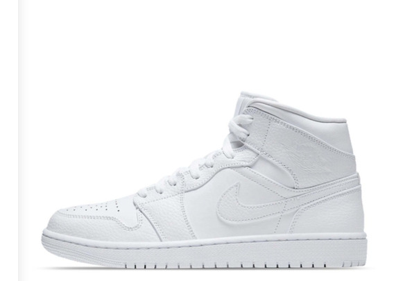 Air Jordan 1 Mid Triple White Nike Original Nuevo