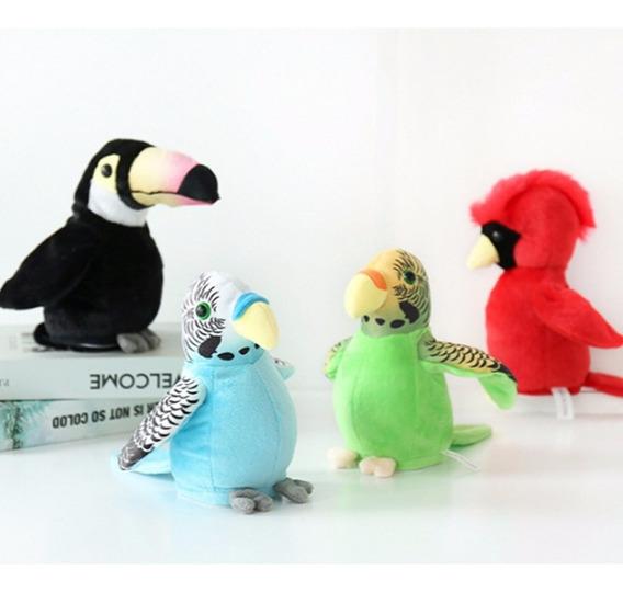 Brinquedos Elétrico Pelúcia Bonitinho Falante Verde Papagaio