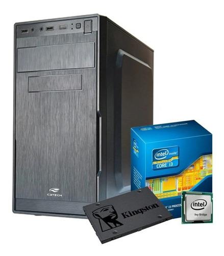 Pc Cpu Intel Core I3 + 8gb Ram + Hd 240gb Ssd +dvdrw + Wifi