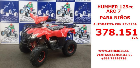 Moto Atv Hummer 125cc Aro 7 A Solo $ 378.151+iva