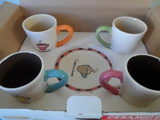 Set Para Cafe De Ceramica Con Motivos Cupcakes 8 Pzs