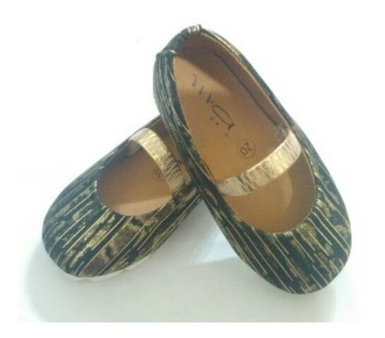 Zapatos Para Niña Dorados Zapatillas