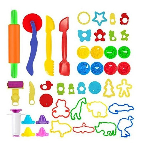 Pandapia 44 Pcs Play Dough Doh Tools Sets De Juegos Con Mold