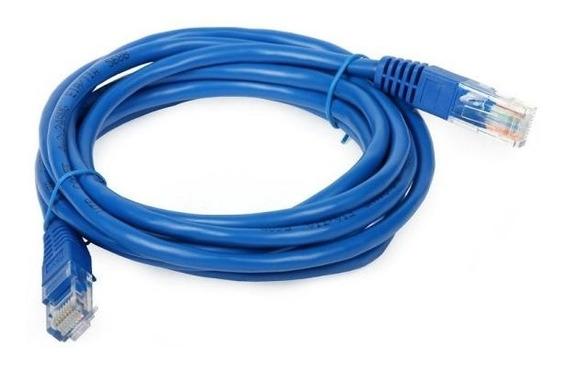 Cabo De Rede Ethernet 3 Metros Azul Cabo De Rede Utp Y11427b