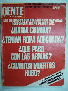 Lote 9 Revistas Gente Malvinas De Colección (ver Fotos)