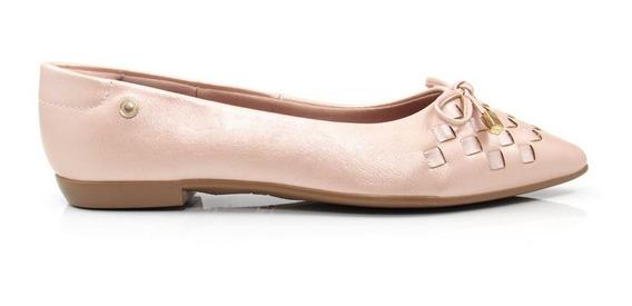 Sapatilha Feminina Bico Fino Olfer Shoes 1266-087 Laço