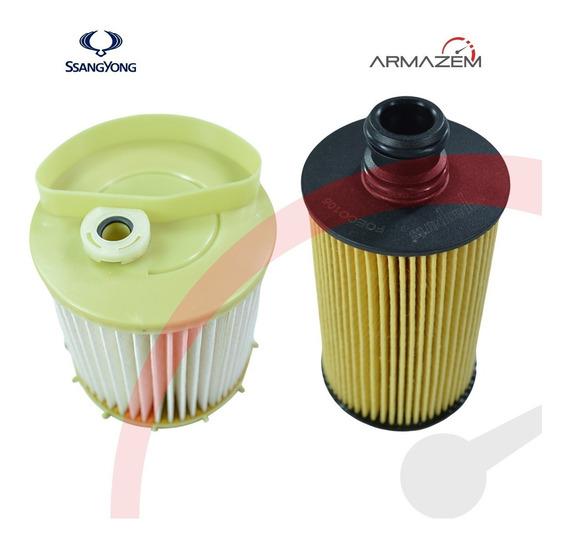 Filtro Lubrificante + Filtro Combustível Korando New Actyon