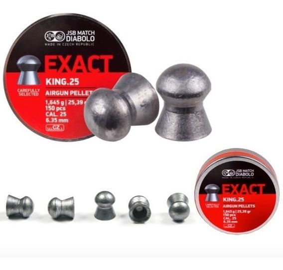 Exact King.25 Airing Pellets Diabolo 6.35mm 150 Pcs Xtreme P