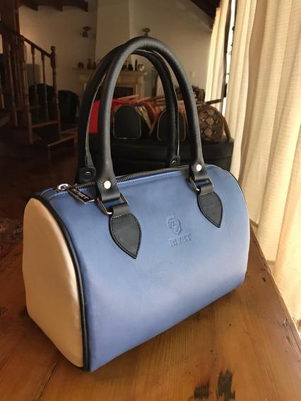 Cartera De Diseño 100 %cuero Legitimo Marca Rivet Bags