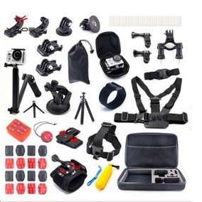 Kit Acessorios P Go Pro Maleta Case Hero 5/4/3 Black Silver