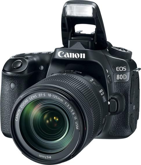 Canon 80d Lente 18-135 Is Usm Wifi Lcd Sup 70d 6/12 Cuotas