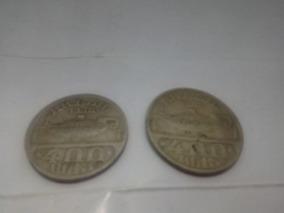 Moeda 400 Reis Osvaldo Cruz 1938/1936 Lote Com Duas