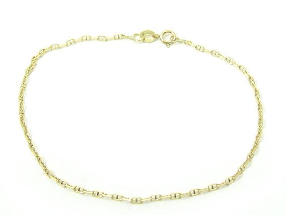 Joianete P9019-60075 Pulseira De Ouro Elos Misto Trançado