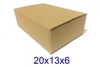 200 Caixas De Papelão Mercado Envios - Correios 20x13x6cm