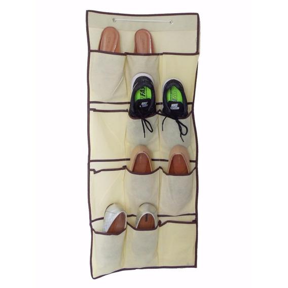 Sapateira Organizador Porta E Parede Com 12 Bolsos Vertical