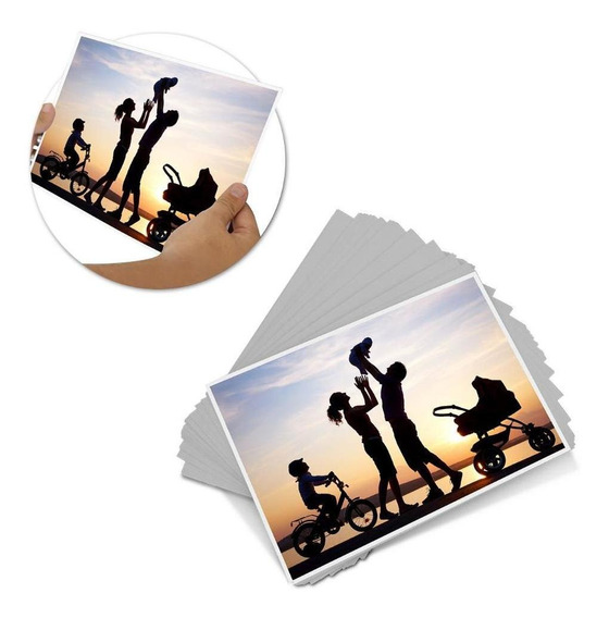 Papel Fotográfico Adesivo 115g Glossy 200 Folhas Foto Paper