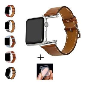 Pulseira Couro Apple Watch + Protetor Case Brinde