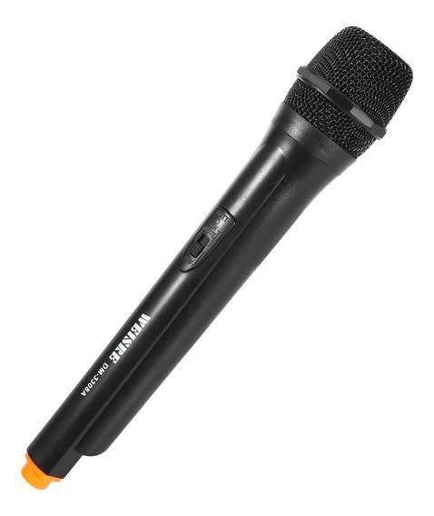 3 Microfone Weisre Dm-3308a Profissional Karaoke Sem Fio Vhf