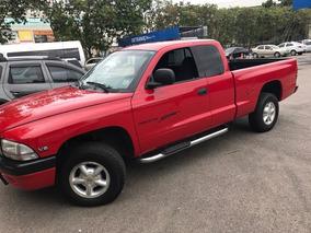 Dodge Dakota Vermelha V6 3.9l 2000 Cabine Estendida