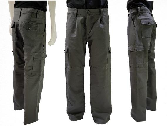 Pantalón Cargo Gris Reforzado