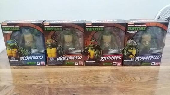 Lote 4 Tartarugas Ninja Replica Sh Figuarts Bandai