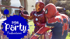 Show Cumpleaños Vengadores Iron Man Y Spiderman Hombre Araña