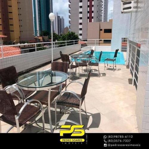 Apartamento Com 3 Dormitórios À Venda, 65 M² Por R$ 320.000 - Manaíra - João Pessoa/pb - Ap3057