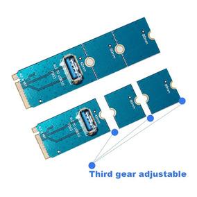 02 Unidades De Adaptador M2 Para Usb 3.0 Pci-e X16 Mineração