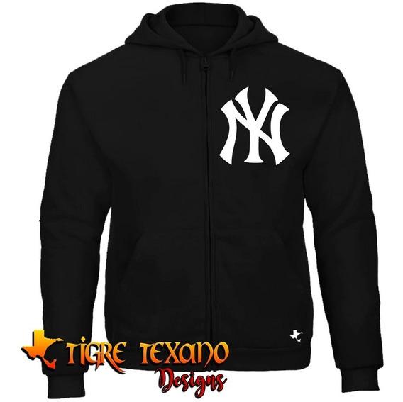 Sudadera Cierre Mlb Yankees New York 1 Tigre Texano Designs