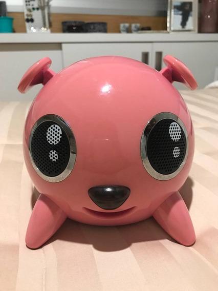 Caixa De Som Portátil Dock Speaker (rosa) Pig Touch Usb Sd