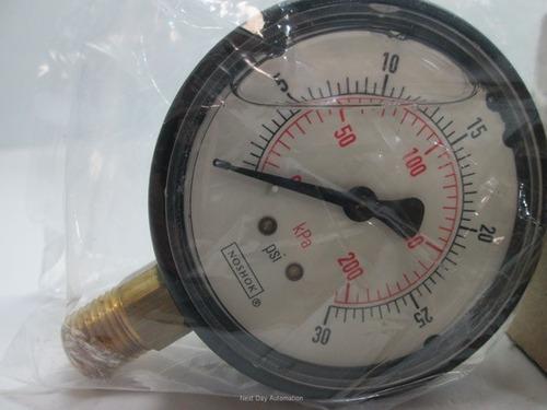 Noshok Manómetro 60 Psi 1/4 Npt 2.5  25-900-60 Inoxidable