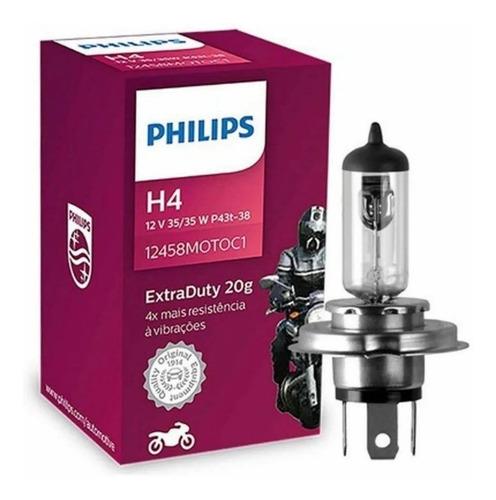 Lampada Farol H4 Moto Philips 35/35w Extraduty Original
