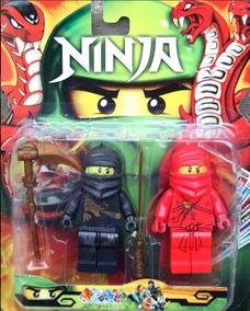 Juguete Ninjago Set 2 Muñecos Figura + Accesorio Niño Fabans