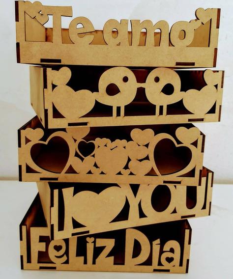 Bandejas Fibrofácil 20x20cm Día De Los Enamorados X 10 Un