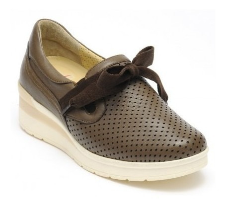 Zapato Onena Mujer Piel Café-negro 9152