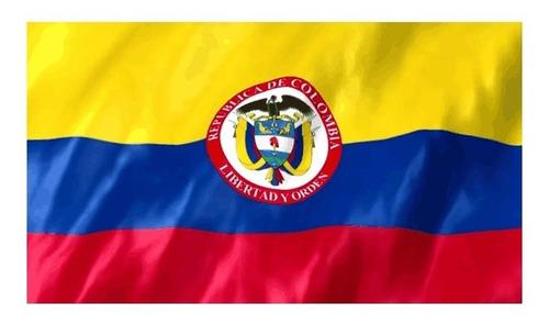 Bandera Colombia Con Escudo 1mtr X1.5mtr  Tela Tifon