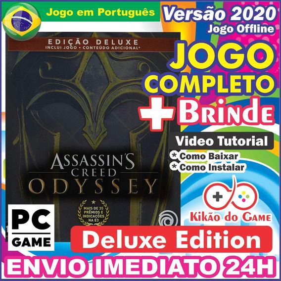 Assassins Creed Odyssey Deluxe + 3dlc Pc Digital Br + Brinde