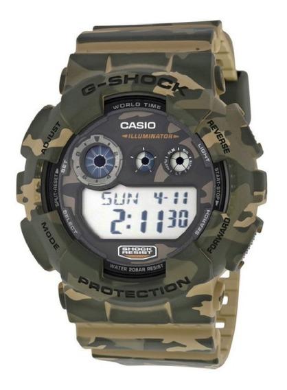 Relógio Casio G-shock Gd-120 Camuflado Masculino Original