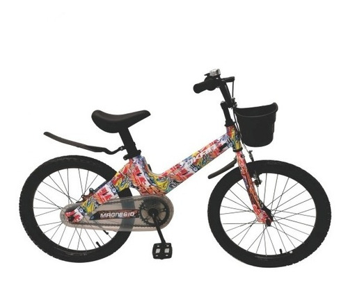 Bicicleta Magnesio Unisex Rodado 20 Con Canasto