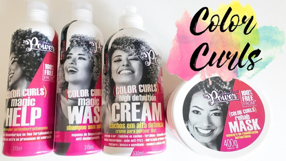 Creme Pentear Soul Power Color Curls Produtos Cabelo