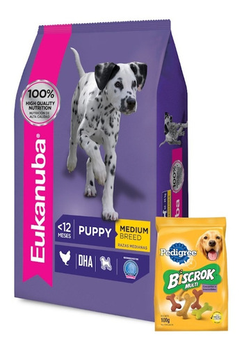 Imagen 1 de 5 de Eukanuba Cachorro Puppy Mediano 15k+ Promo -ver Foto+ Envío!