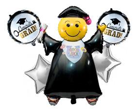 Kit De Globos De Graduación Toga Graduado L01 Total 10 Pzas