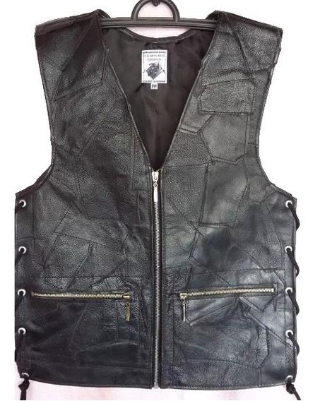 Colete/ Jaqueta/casaco Masculino Retalho Couro Legítimo 1m