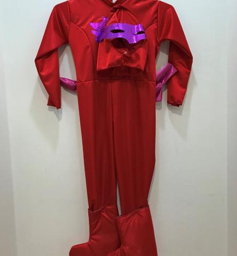 Imagen 1 de 4 de Disfraz Niño Pj Masks Owlette Rojo