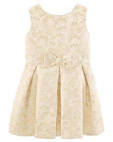 Vestido Bege Dourado Carters 5t