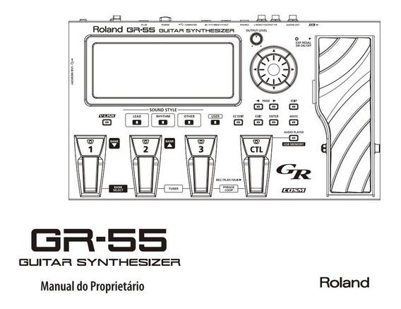 Manual Portugues Roland Gr 55,fc 300, Fc 200, Gw 7,exr 7s
