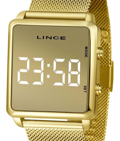 Relógio Lince Feminino Fashion Led Mdg4619l Bxkx Original