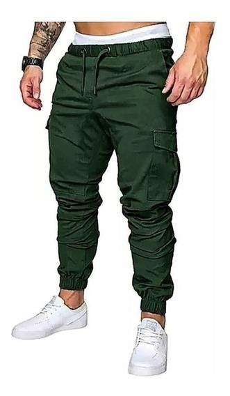 Jogger Cargo Pantalon Hombre Gabardina Elastizada