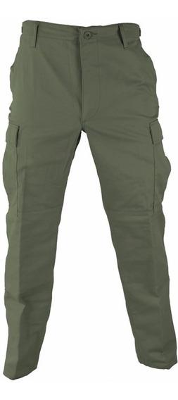 Pantalon Tactico Ripstop Verde Corte Bdu Combate